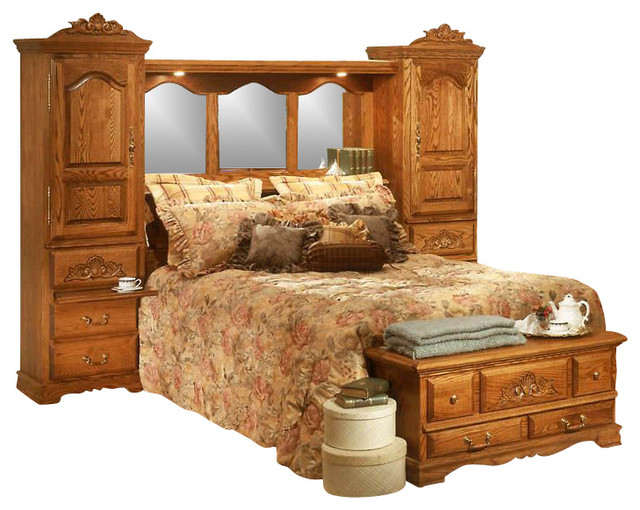 pier wall carving detail bedroom set king  contemporary