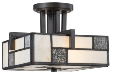 Designers Fountain 84111 Bradley Semi-Flush Light in Charcoal Finish modern-ceiling-lighting