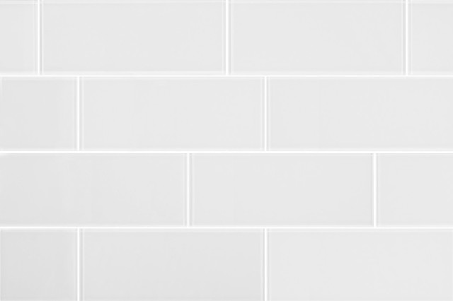 3x8 matt white glass subway tile modern tile by all