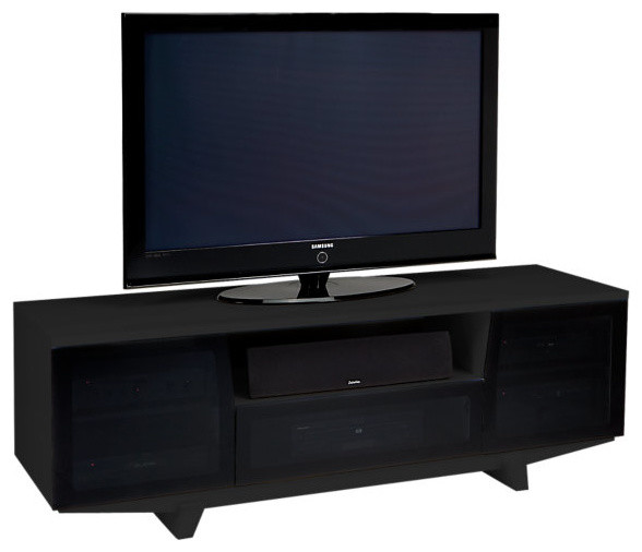 BDI Marina Home Theater System with Freestanding, Gloss Black contemporary-media-storage