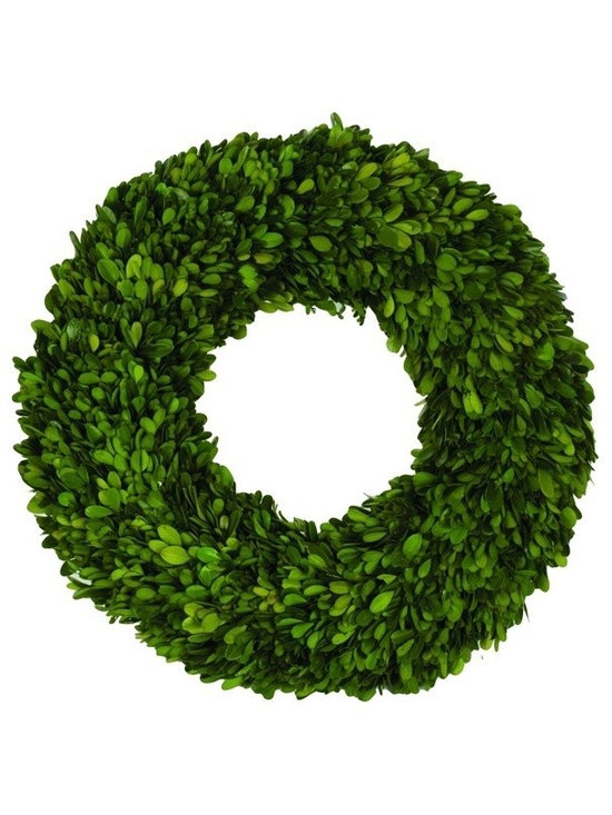 """Napa Home & Garden - Boxwood 16-Inch Wreath - Preserved Boxwood 16"""" Wreath By Napa Home & Garden - Napa Home & Garden is a wholesale manufacturer of distinctive home & garden decorative accessories."""