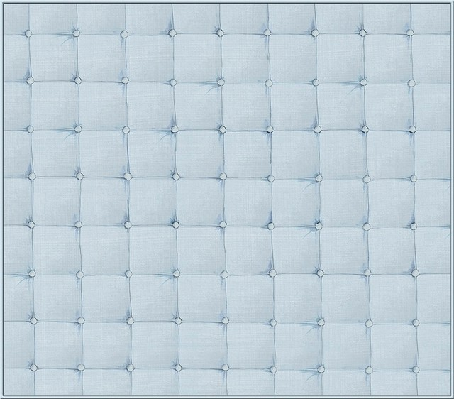 Faux padded headboard wallcoverings light blue twin 11 for Padded wall wallpaper