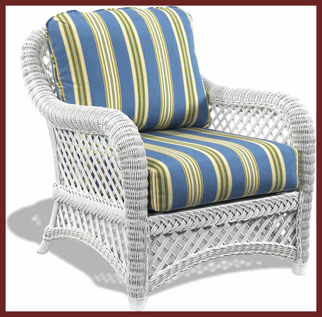 White Wicker Chair Lanai Style Traditional Outdoor Lounge Chairs Other Metro By Wicker