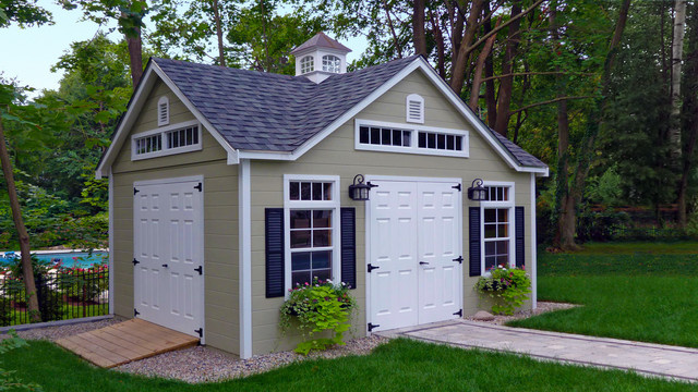 Reeds ferry sheds traditional sheds boston by for Victorian garden shed designs