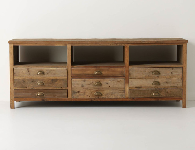 Entertainment center contemporary entertainment centers and tv stands - Illusorio Console Rustic Entertainment Centers And Tv