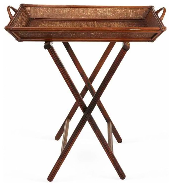 Bamboo Butler Tray Table Traditional Tv Trays New York By Second Shout Out
