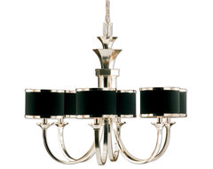 www.essentialsinside.com: tuxedo 6 shade chandelier contemporary pendant lighting