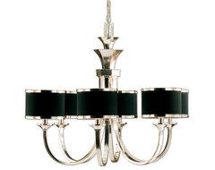 www.essentialsinside.com: tuxedo 6 shade chandelier contemporary-pendant-lighting