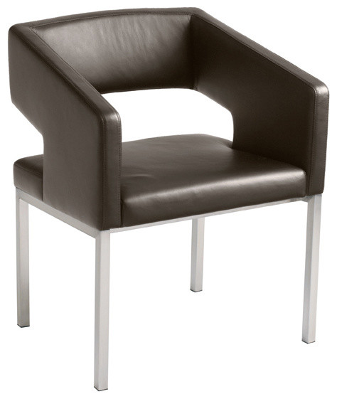 Titus Dining Chair, Chocolate modern-dining-chairs