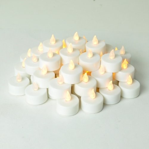 Instapark LCL-48 Battery-Powered Flameless LED Tea Light Candles - Contemporary - Candles - by ...