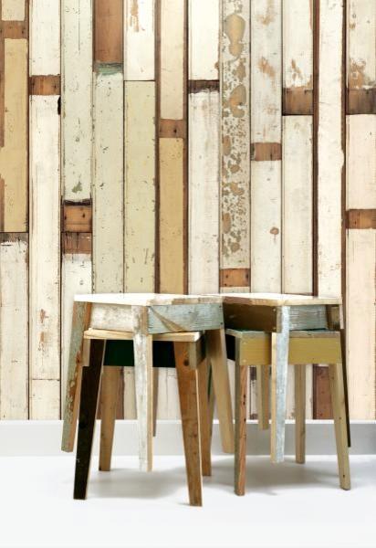 Scrap Wood Wallpaper eclectic-wallpaper