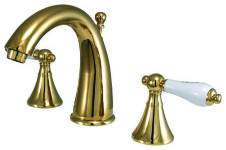 Elements Of Design ES2972PL Polished Brass (PVD) Los Angeles Double contemporary-kitchen-faucets