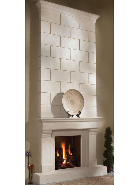 "Classic stone fireplace overmantel - ""omega cast stone fireplace mantle"""