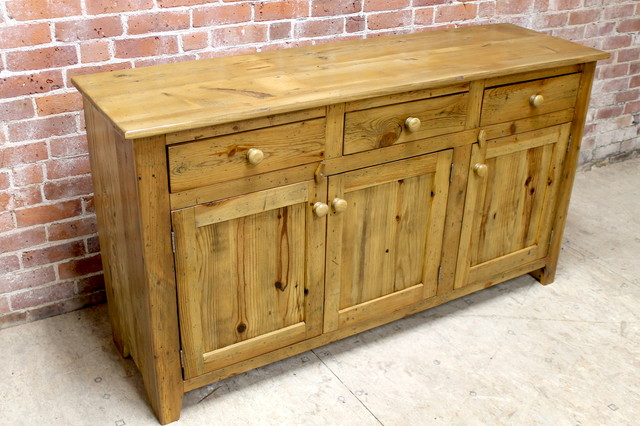 Rustic Reclaimed Buffet Rustic Buffets And Sideboards