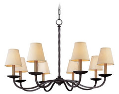 "Alexander 10-Light 38"" Wide Wrought Iron Chandelier traditional chandeliers"