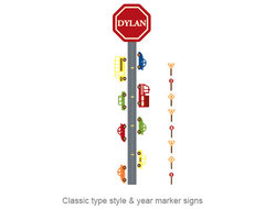 Car Wall Decal Growth Chart contemporary decals