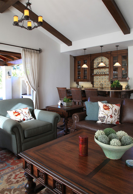Spanish Santa Barbara Style Living Room Traditional Living Room Other Metro By Maraya