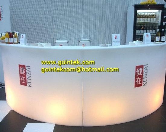 Fashion colorful coffee led counter -
