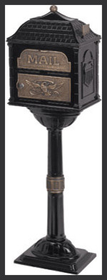 Gaines Antique Pedestal Mailbox Package (Mailbox and Post) traditional-mailboxes
