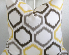 Decorative pillow Cover, Ikat By chicdecorpillows eclectic-decorative-pillows