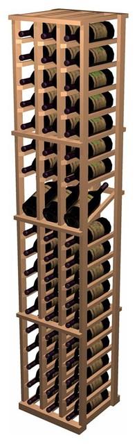 Designer Series Wine Rack - 3 Column Individual with Display traditional-wine-racks