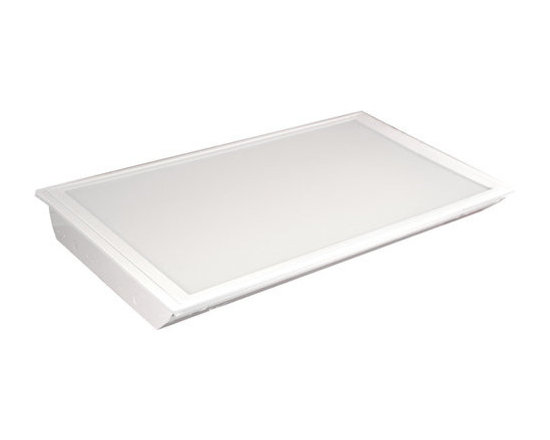 MaxLite - MLRT24D5541 MaxLite 2x4 Eco-T LED Recessed Troffer 55 Watts 4100K - MaxLite's ECO-T LED Recessed Troffer Light Panels are high quality, energy saving replacements for fluorescent troffers in lay-in or T-grid ceilings. These LED Panels house LED Strips that resemble fluorescent tubes when lit, without the buzzing and flicker!