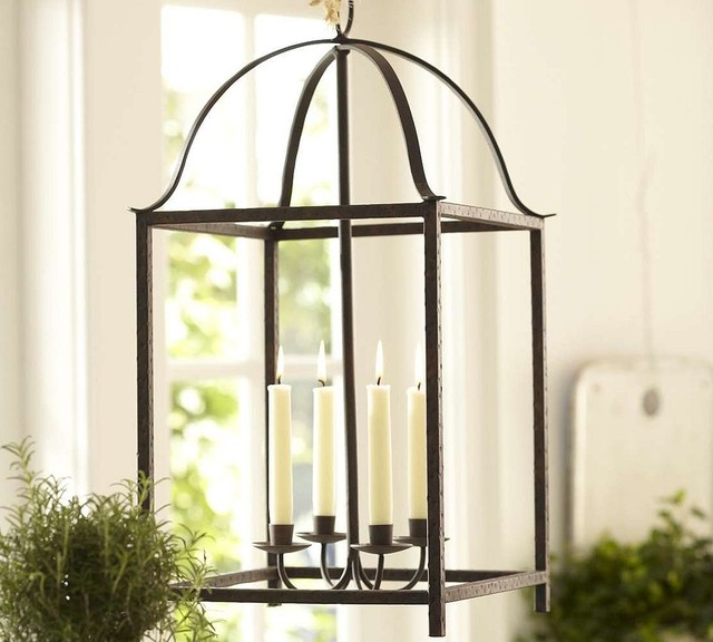 Blacksmith Taper Lantern - Pottery Barn traditional chandeliers