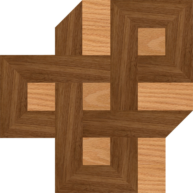 Oshkosh designs celtic knot inlay corner contemporary for Inlaid wood floor designs