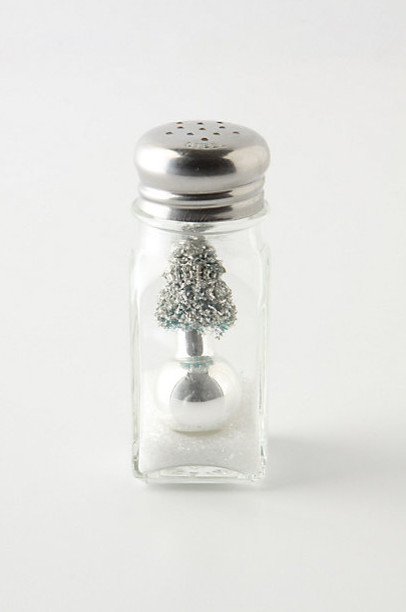 Salt Shaker Snow Globe eclectic holiday decorations