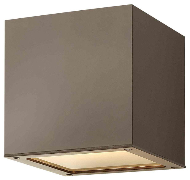 Modern Outside Wall Sconces : Kube Outdoor Wall Sconce - Modern - Outdoor Wall Lights And Sconces - by Lightology