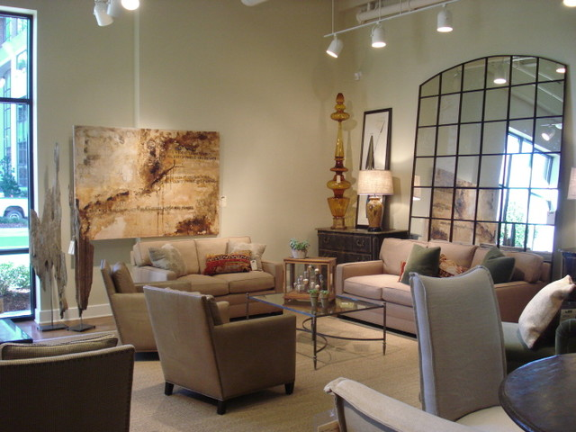 Products displayed in lee showroom high point market for Home decor new orleans