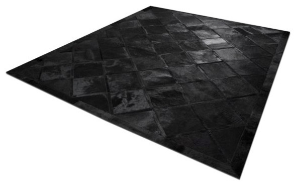 Chained cowhide patchwork rug modern rugs los for Modern rugs los angeles