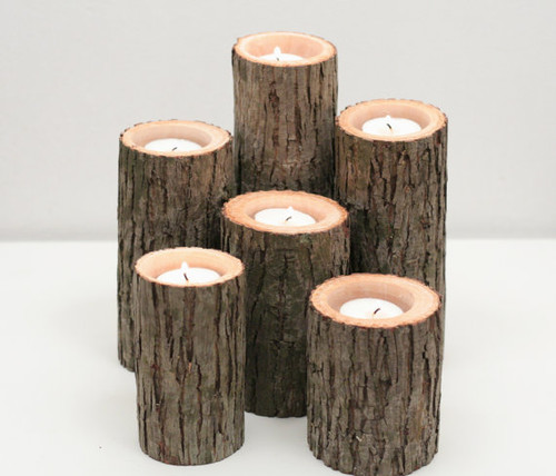 Bark candles can infuse your room with some woodland charm