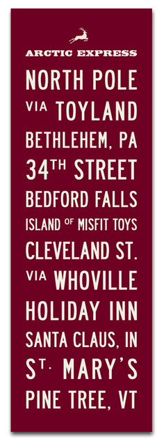 The Christmas Subway Sign, 12 X 36 traditional-novelty-signs