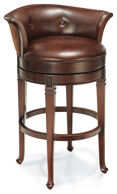 """Cantle Back Bar Height Bar Stool (30""""H seat) traditional-bar-stools-and-counter-stools"""