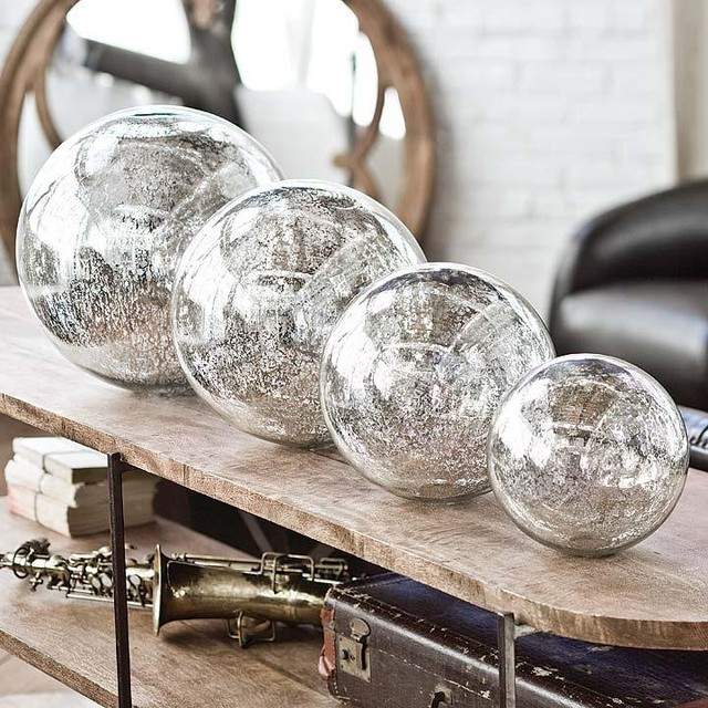 Regina Andrew Blown Mercury Glass Spheres  accessories and decor