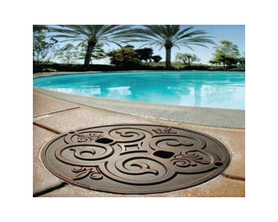 Casa Newport Bronze Metal Premium Skimmer Lid - Don't let your plain old skimmer lid be an eyesore in your backyard!