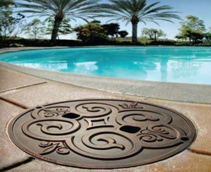 Casa Newport Bronze Metal Premium Skimmer Lid mediterranean-hot-tub-and-pool-supplies