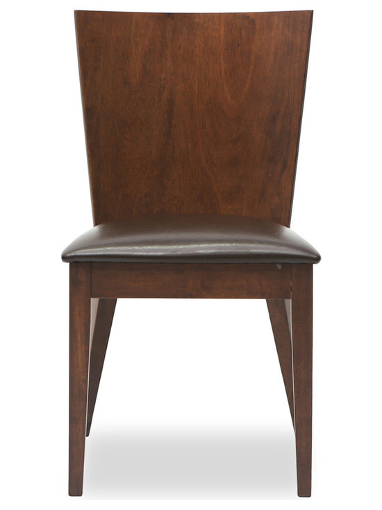 Bryght - Marva Faux Leather Upholstered Dining Chair - The Marva dining chair exhibits a simple yet modern design making it a welcome addition to your casual dining needs. With its balanced clean-line proportions and one piece curved back rest, the Marva dining chair is sure to please you every time you sit down for a sumptuous meal.