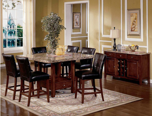 Montibello Pub Height Dining Set Contemporary Dining