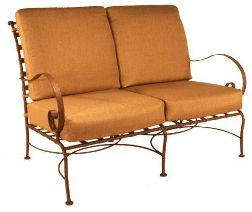 O.W. Lee Classico Wrought Iron Loveseat - Traditional - Outdoor Sofas - by Hayneedle