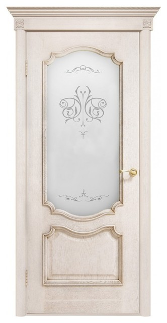 Prestige ivory french classic interior door with frosted for All glass french doors
