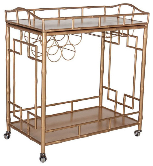The Sedgewick Bar Cart Gold Contemporary Bar Carts