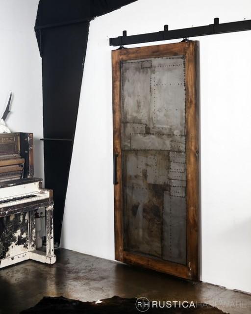 Steampunk Scrap Metal Door - Brackets - by Rustica Hardware