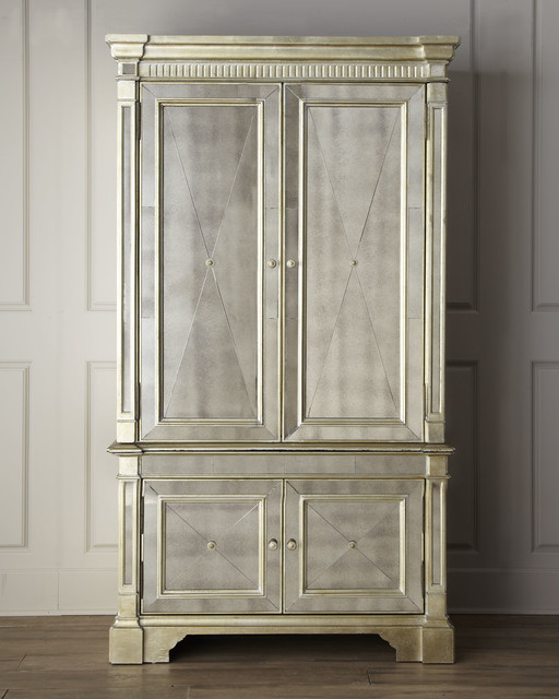 Mirrored Armoire: Amelie Mirrored Cabinet
