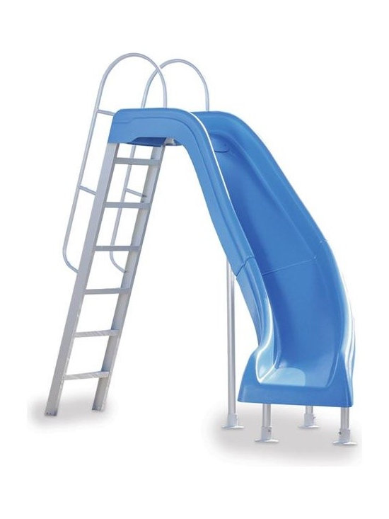 Inter-Fab City 2 Right Runway Pool Slide - Blue