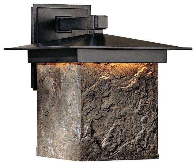 "Arts and Crafts - Mission Hubbardton Forge Lightfall 13"" High Dark Sky Wall traditional-outdoor-lighting"
