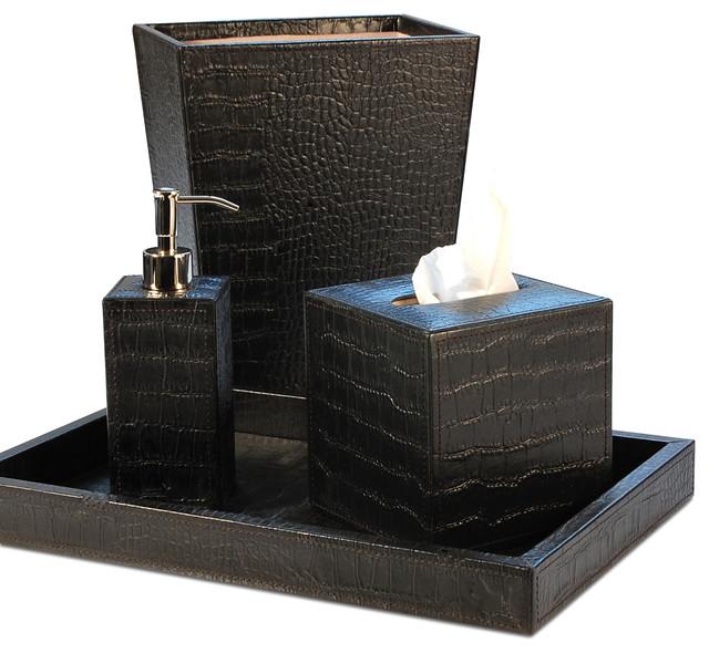 Verona Saddle Black Bathroom Set bath-and-spa-accessories