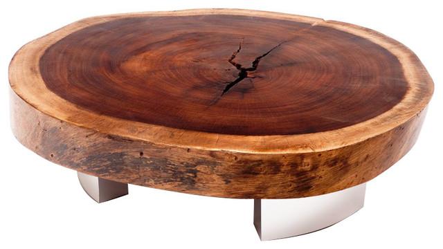 Rotsen Furniture Bolacha Aluminum Base Coffee Table contemporary-coffee-tables