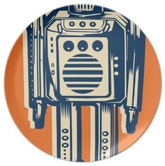 Robot Dinner Plate eclectic-dinner-plates
